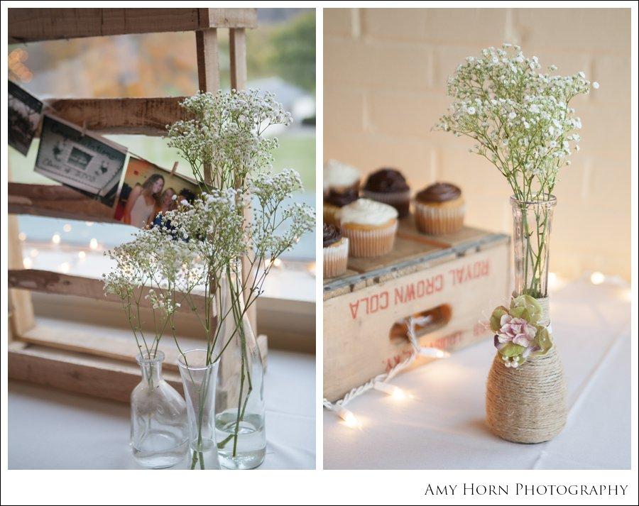 flower display, flower decoration, baby breath, high school reunion decorations, wedding reception, diy flowers,
